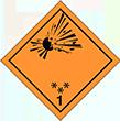 Pictogramme Classe1: Explosifs